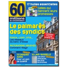 60 Millions De Consommateurs N�468 : Palmares Des Syndics - Casques Audio - Lave-Vaisselle