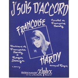 "partition Françoise Hardy ""J'suis d'accord"""