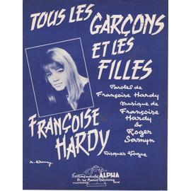 """partition Françoise Hardy """"Tous les garçons et les filles"""""""