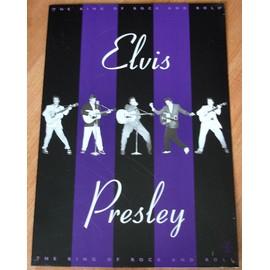 ELVIS PRESLEY The King of Rock'n'Roll PLAQUE EMAILLéE 30cm x 32cm