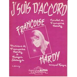 """Partition Françoise Hardy """"J'suis d'accord"""""""
