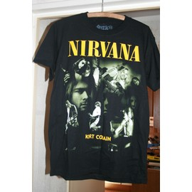 3 T shirts KURT COBAIN / NIRVANA  Imprimés recto verso Taille M