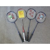 Lot De Sept Raquettes Badminton