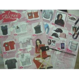 alizee (époque mylène farmer) plan media merchandising 2004 la boutique officielle