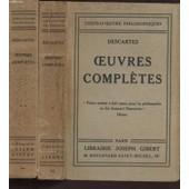 Oeuvres Completes / Tomes 1 Et 2 / Collection Chefs-D'oeuvres Philosophiques. de DESCARTES