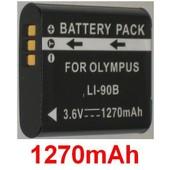 Batterie Pour OLYMPUS Tough TG-1, TG1, TG-1 iHS, TG-1iHS, TG 1 iHS, P/N: LI-90B LI90B 3.6V *1270mAh*