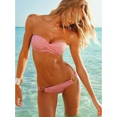 Monokini Maillot De Bain Femme 2 Pieces Bandeau Twist Push-Up 38/40