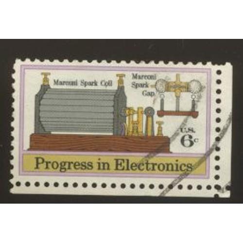 Timbre u s a progress in electronics marconi spark coil marconi spark <strong>gap</strong> u s 6 cents oblitéré