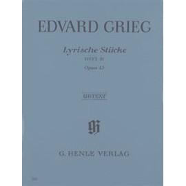 Lyrische Stücke Opus 43 (Heft III) Klavier