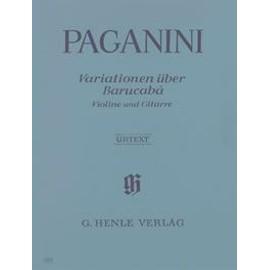 60 Variationen über Barucabà für Violine und Gitarre Opus 14 Violine und Gitarre