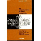 An International Reader's Dictionnary de Michael West