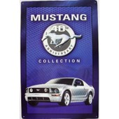 Plaque Publicitaire Ford Mustang D�co Garage Diner Tole