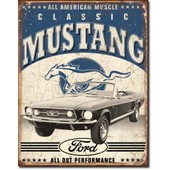 Plaque Publicitaire Ford Mustang D�co M�tal Tole Folt Bar Usa