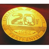 Or Pl 20 Francs Commemorative Mont Saint Michel 1992 Rare