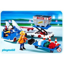Playmobil 4315 - Agents / Porte-Containers / Escalier Mobile