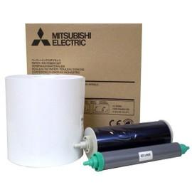 Mitsubishi Ck 8000fx4p - 1 - Rouleau (12,7 Cm) Kit Ruban D'impression / Papier - Pour Color Printer 8000dw