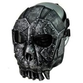 Masque Int�gral De Protection - Thorn Desert Hunter - Abs Noir / Acier - Silver - Airsoft / Paintball...