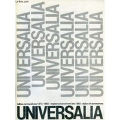 Universalia, Tables Cumulatives 1974-1983 de Collectif