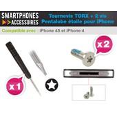 Tournevis Torx + 2 Vis Pentalobe �toile - D�montage Vitre Arri�re - Iphone 4 4s
