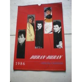 calendrier duran duran 1986