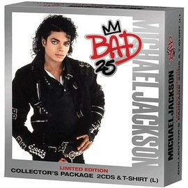 MICHAEL JACKSON BAD 25 WALMART EXCLUSIF BOX SET 2 CD+T-SHIRT EN VENTE UNIQUEMENT AUX USA