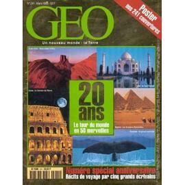 Geo 1999 (N�241) Special 20 Ans - Le Tour Du Monde En Cinquante Merveilles - Recits De Voyage Par Cinq Grands Ecrivains