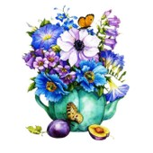 Grille Point De Croix Pot De Fleurs Aux Papillons