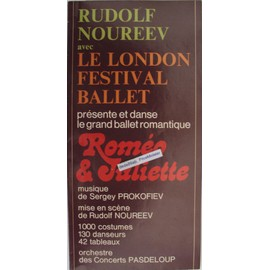 """fiche pub du spectacle """"roméo & juliette"""" avec rudolf noureev au palais des sports de paris en 1978."""