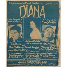 diana , grand succès de paul anka - mouloudji - gloria lasso - michele arnaud