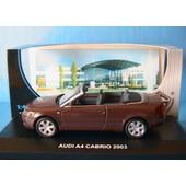 Audi A4 3.0 Cabriolet 2003 Marron Edison Serie Oro 1/43 Dark Red Metal Roadster