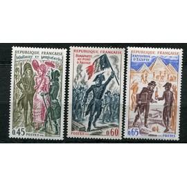 FRANCE ANNée 1972 N° 1729 1730 1731 NEUFS** HISTOIRE DE FRANCE