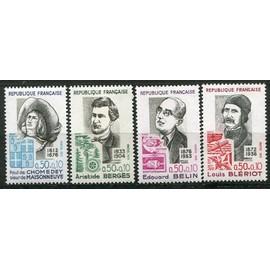 FRANCE année 1972 N° 1706 1707 1708 1709 NEUFS** PERSONNAGES Célèbres