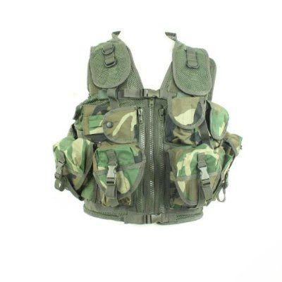 Gilet Veste Tactique Camo Camouflage Woodland Multi Poches Et Carquois Miltec 10712020 Airsoft