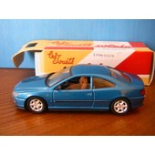 Peugeot 406 Coupe Bleu Metal 1998 Solido 1/43 Made In France Paper Box Hachette