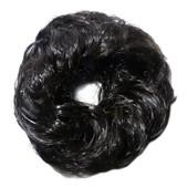 Chouchou Postiche Faux Cheveux Id�al Rajout Chignon Brun Sombre Quasiment Noir