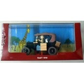 Herge Voiture Tintin Au Congo Ford T Noire