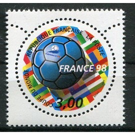 FRANCE année 1998 N° 3139 NEUF** FRANCE 98 COUPE DU MONDE DE FOOTBALL BALLON