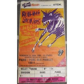 Place concert Rolling stones parc des princes 1990
