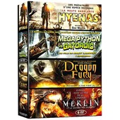 Cr�atures - Coffret 4 Films : Hyenas + Mega Python Vs. Gatoroid + Dragon Fury + Merlin Et La Guerre Des Dragons - Pack