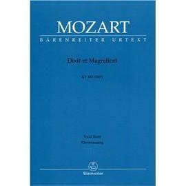 MOZART, Dixit et Magnificat - KV 193 (186g) - Klavierauzug / Vocal Score / Voix (SATB) et Piano