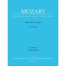 MOZART, Alma Dei creatoris KV277 (272a) - Klavierauszug / Vocal Score / Chant (SATB) / Piano
