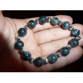 Bracelet Extensible Labradorite&argent Du Tibet