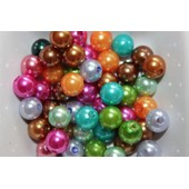 50 Perles Acryliques Multicolores 8mm