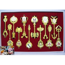 Coffret Cle Constellation Fairy Tail Lucy 13 Cl�s D'or