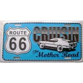 Plaque D'immatriculation Americaine Route 66 Ford Mustang