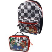 Super Mario Bros. Set Sac � Dos Et Mini Sac Isotherme Mario & Lu