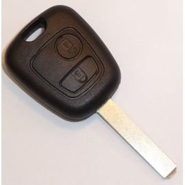 1tasten Affaire Clés de Voiture Blanc pour Peugeot 106 206 Cabriolet 306 406 607