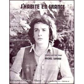 J'HABITE EN FRANCE - SARDOU Michel