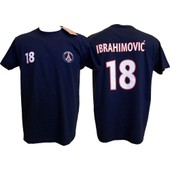 T-Shirt Zlatan Ibrahimovic N�18 - Collection Officielle Paris Saint Germain Psg - Blason Maillot - Tee Shirt Taille Adulte Homme