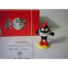 Le Grand Schtroumpf Noir Pixi. + Bo�te Rouge + Certificat Num�rot�. Smurf. Schtroumpf